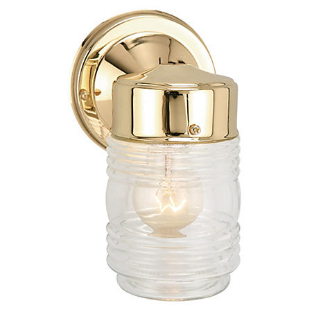 Jelly Jar by Design House Polished Brass Outdoor Downlight - Polished Brass