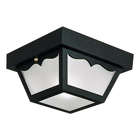 Design House Outdoor Flush Mount Ceiling Light - Black