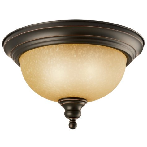 Design House 2-Light Ceiling Mount Bristol Collection - Oil Rubbed Bronze