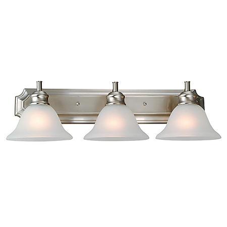 Design House 3-Light Vanity Light Bristol Collection - Satin Nickel