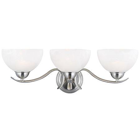 Design House 3-Light Vanity Light Trevie Collection - Satin Nickel