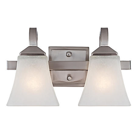 Design House 2-Light Wall Mount Torino Collection - Satin Nickel