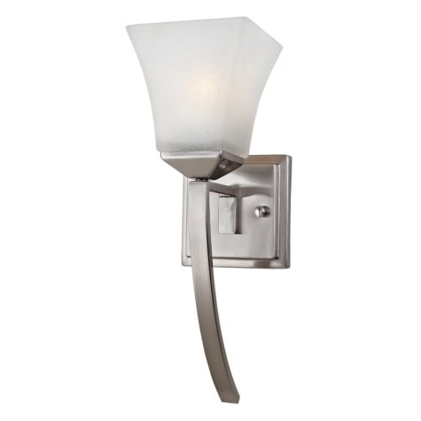 Design House 1-Light Wall Mount Extended Torino Collection - Satin Nickel