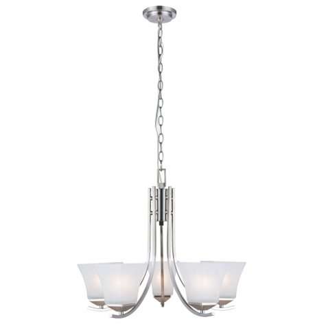 Design House 5-Light Chandelier Torino Collection - Satin Nickel