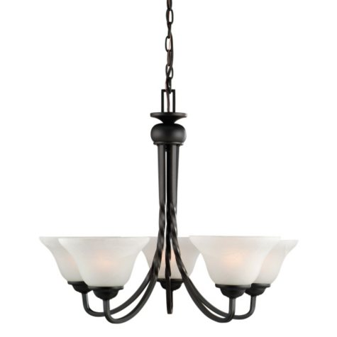 Drake by Design House Chandelier - Oil Rubbed Bronze