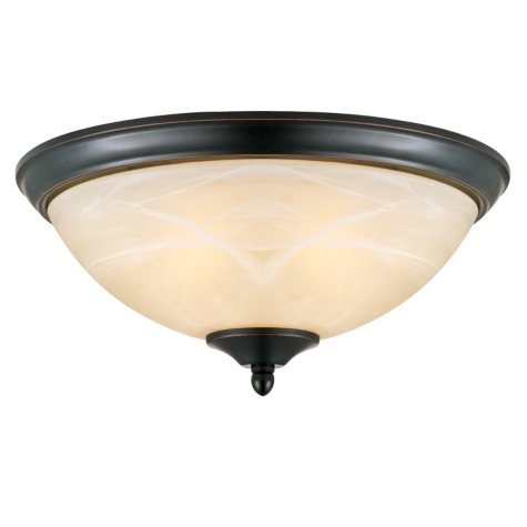 Design House 2-Light Ceiling Mount Trevie Collection - Oil Rubbed Bronze