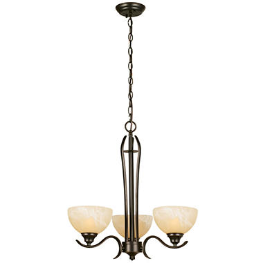 Design House 3-Light Chandelier Trevie Collection Oil Rubbed Bronze