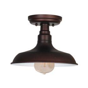 Kimball 1-Light Textured Indoor Ceiling Mount Fixture- Coffee Bronze