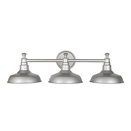 Kimball 3-Light Galvanized Indoor Vanity Light