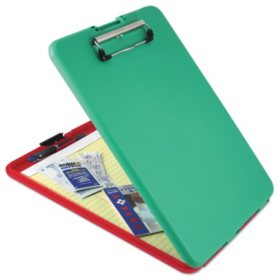 "Saunders SlimMate Show2Know Safety Organizer, 1/2"" Clip Capacity, 9"" x 11 3/4"", Red/Green"