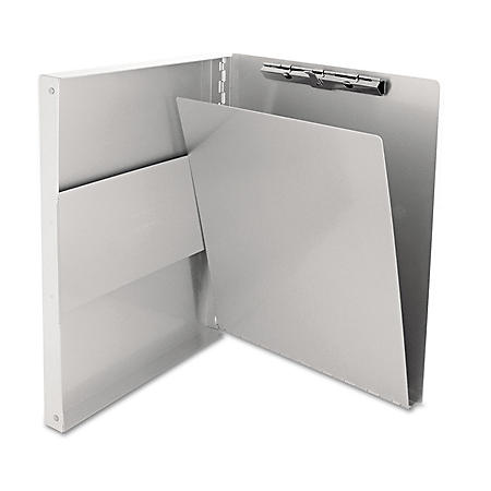"""Saunders - Snapak Aluminum Forms Folder, 1/2"""" Capacity, Holds 8-1/2""""W x 12""""H - Silver"""