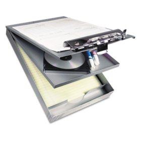 "Saunders Cruiser Mate Aluminum Storage Clipboard, 1"" Capacity, 8 1/2 x 12, Silver"