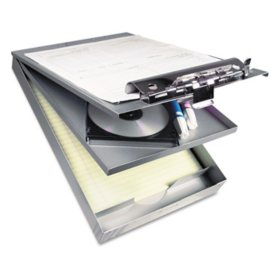 "Saunders Cruiser Mate Aluminum Storage Clipboard, 1"" Capacity, 8 1/2 x 12, Silver"