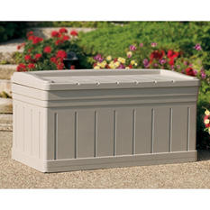 Suncast Deck Box w/Seat - 129 gallon