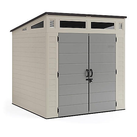 Suncast 7' x 7' Modernist Resin Storage Shed (BMS7781D)