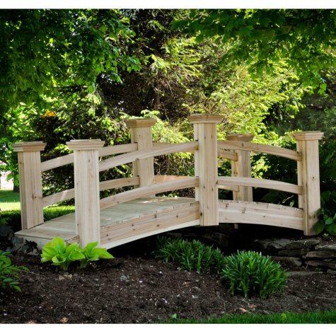 Suncast Cedar Garden Bridge