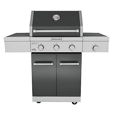 KitchenAid 3-Burner Outdoor Propane BBQ with Side-Burner