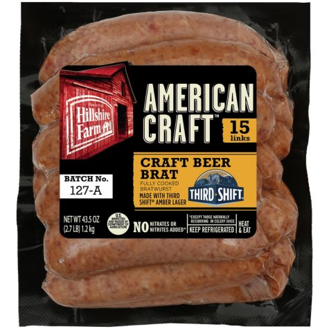 Hillshire Farm American Craft Craft Beer Brats (15 ct, 43.5 oz.)