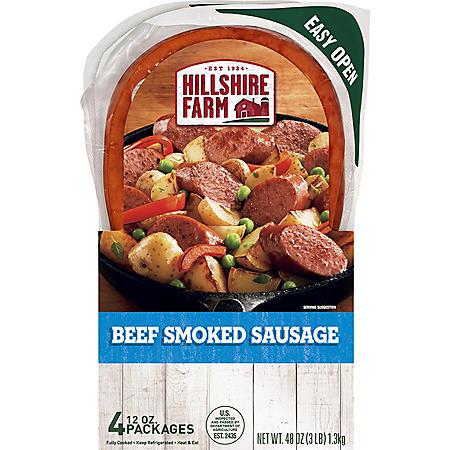 Hillshire Farm Beef Smoked Sausage Bundle Pack (48 oz.)