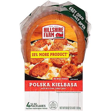 Hillshire Farm Polska Kielbasa Smoked Sausage Rope, Bundle Pack (56 oz.)