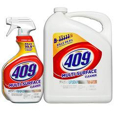 Formula 409 All Purpose Cleaner, Original Scent, 32 Oz. Spray Bottle and 180 Oz. Refill