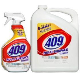 Formula 409 Multi Surface Cleaner, Original Scent, 32 oz. Spray Bottle and 180 oz. Refill