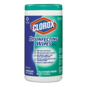 Clorox Commercial Solutions Disinfecting Wipes, Fresh Scent (75 ct. each, 6 pk.)