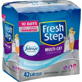 Fresh Step Multi-Cat Scented Litter with the Power of Febreze, Clumping Cat Litter (42 lbs.)