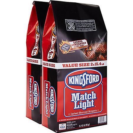 Kingsford Match Light Instant Charcoal Briquets (15.4 lb. bags, 2 ct.)