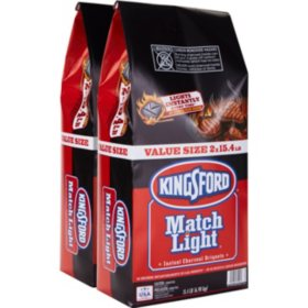 Kingsford Match Light Instant Charcoal Briquets (15.4 lb. bags, 2 ct.)