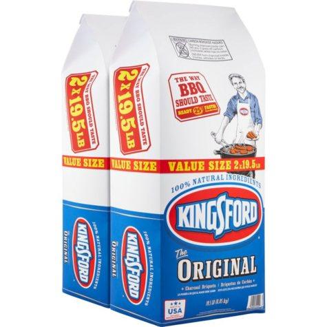 Kingsford Original Charcoal Briquets (19.5 lb. bags, 2 ct.)