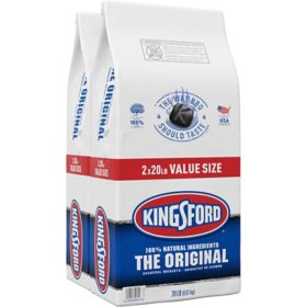 Kingsford Original Charcoal Briquettes, BBQ Charcoal for Grilling (20 lbs. each, 2 pk.)