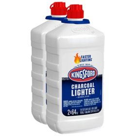 Kingsford Odorless Charcoal Lighter Fluid (64 oz. bottles, 2 pk.)