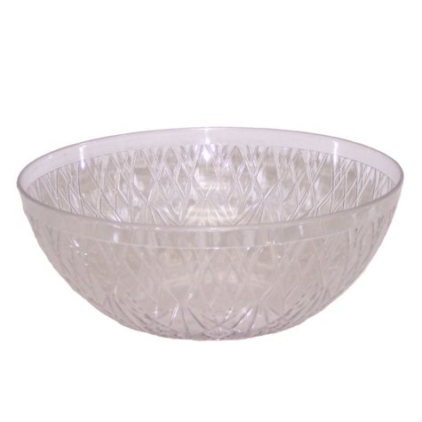 "Crystalike 15"" Giant Crystal-Cut Clear Bowl (10 qt.,12 pk.)"