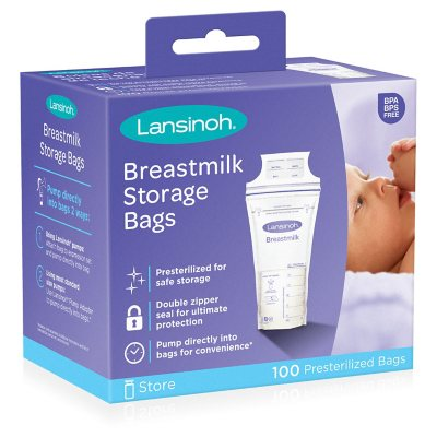 Lansinoh Breastmilk Storage Bags 100 Ct Sam S Club