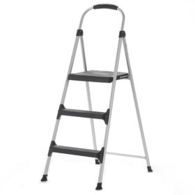 Cosco Signature 3-Step Aluminum Step Stool with Plastic Steps