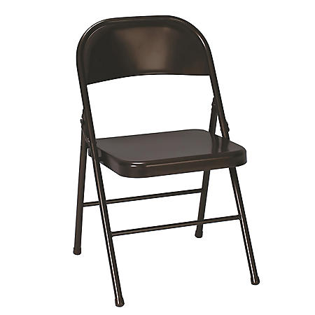 Cosco All Steel Folding Chair, Select Color - 4-pack