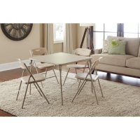 Cosco 5-Piece Folding Table and Chair Set, Assorted Colors