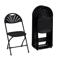 Zown Premium Commercial Fan Back Banquet Folding Chair, Assorted Colors (8-Pack)