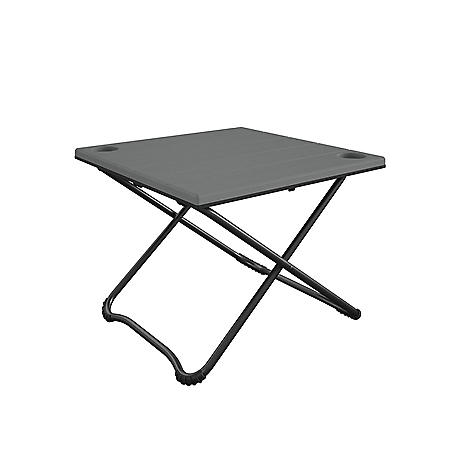 """Cosco 24"""" Square Folding Camping Table, Gray Resin and Steel Frame"""