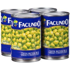 Facundo Green Pigeon Peas (15 oz., 4 pk.)