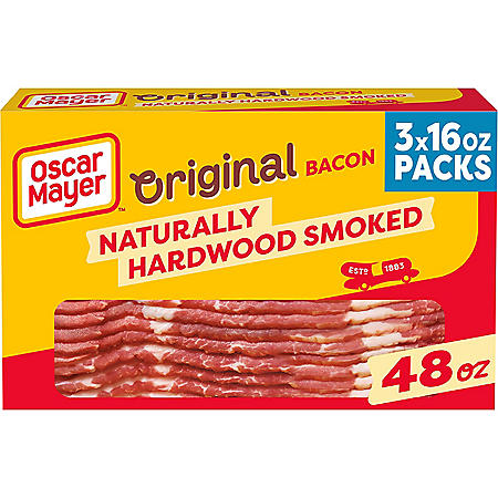 Oscar Mayer Naturally Hardwood Smoked Bacon (3 lbs.)