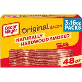 Oscar Mayer Naturally Hardwood Smoked Bacon (48 oz., 3 pk.)