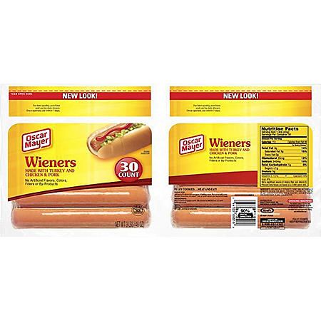 Oscar Mayer Meat Franks - 3 lb. - 30 ct.