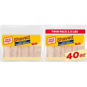 Oscar Mayer Smoked Turkey Breast and White Meat, (40 oz. pouch, 2 ct.)