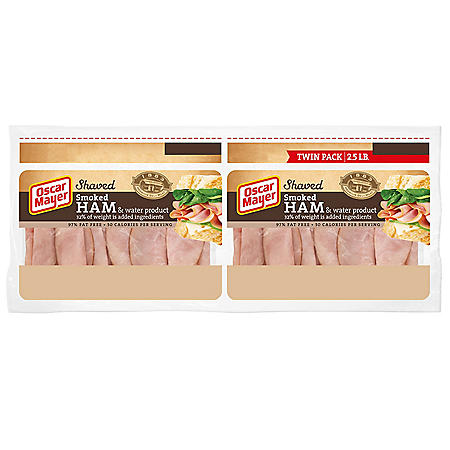 Oscar Mayer Shaved Smoked Ham (40 oz. pouch, 2 pk.)