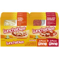 Lunchables Pizza Variety Pack with Pepperoni and Extra Cheesy Pizza Kits (6 pk.)