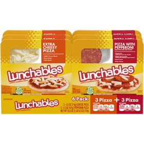 Oscar Mayer Lunchables, Pepperoni Pizza and Extra Cheesy Pizza Combo (6 pk.)