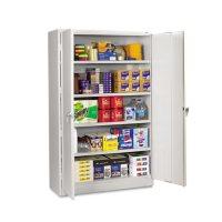 "Tennsco 78"" x 24"" Assembled Jumbo Steel Storage Cabinet, Light Gray"