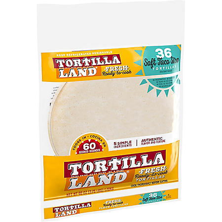 "Tortilla Land Uncooked 8"" Soft Flour Tortillas (36 ct.)"
